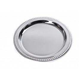 Chrómový podnos okrúhly chrómový 31,7 cm