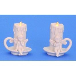 Anjel so sviečkou LED9,5cm mix
