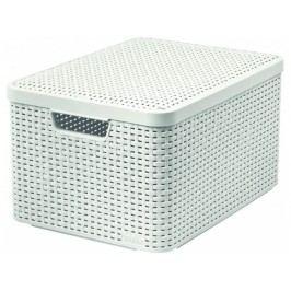Úložný box s vekom STYLE L, krémový