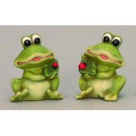 Žaba s lienkou 10cm mix
