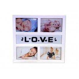 Fotorám LOVE na 4 fotky