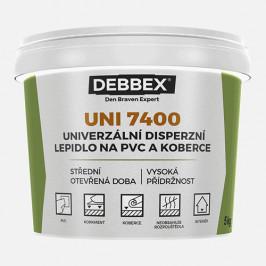 Den Braven UNI 7400 - Disperzné lepidlo na PVC a koberce - svetlo béžová - 1 kg