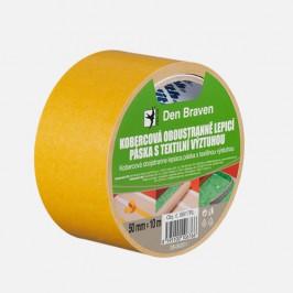 Den Braven Kobercová obojstranne lepiaca páska s textilnou výstuhou - 50mmx10 m