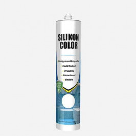 Den Braven Silicon Color - Acetátový silikónový tmel - biela - 310 ml