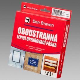 Den Braven Obojstranne lepiaca a upevňovacia páska v krabičke - biela - 10m - 25mmx2 mm