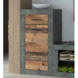 Askon 49, tmavý beton/vintage optika dreva