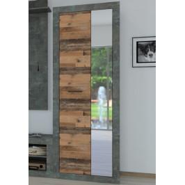 Askon 48, tmavý betón / vintage optika dreva
