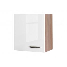 Valero H50, dub sonoma / biely lesk, šírka 50 cm
