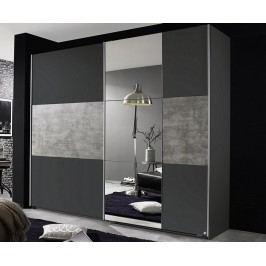 Prenzlau, 218 cm,tmavá sivá / sivý betón