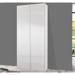 New York D, 90 cm, biela / biely lesk