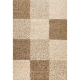 Šachovnicový koberec SHAGGY 910 160x230
