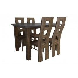 Komplet montana stôl + stoličky