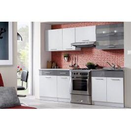 Kuchyňa tina 240 biela/grafitový lesk