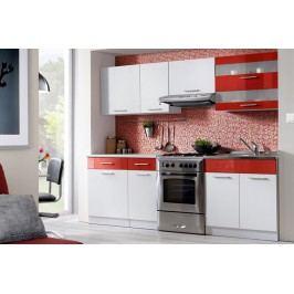 Kuchyňa tina 240 biela/červený lesk