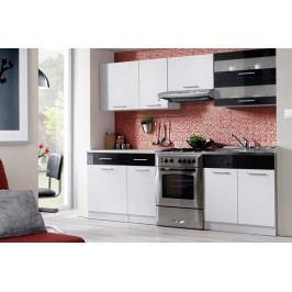Kuchyňa tina 240 biela/čierny lesk