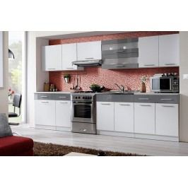 Kuchyňa tina 320 biela/grafitový lesk