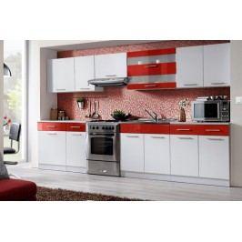 Kuchyňa tina 320 biela/červený lesk
