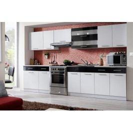 Kuchyňa tina 320 biela/čierny lesk