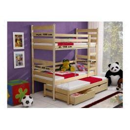 Poschodová posteľ tedi 3-osobová 90 x 200 calvados