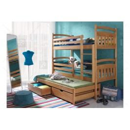 Poschodová posteľ nelson - 90 x 190 dub