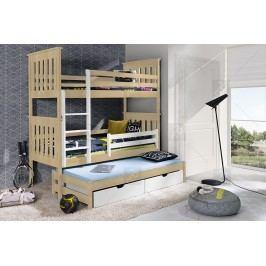 Poschodová posteľ tadzio - 90 x 200 buk/calvados