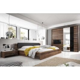 Spálňa iii indira + posteľ 160 s úložným priestorom