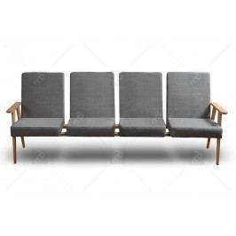 Kreslo - klubová lavice do čakárne 4 os.
