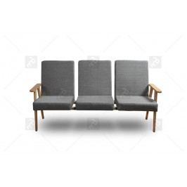 Kreslo - lavice do čakárne 3 os.