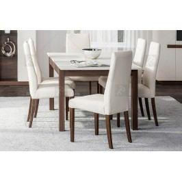 Komplet nábytku kashmir iii: stôl + 6 stoličiek