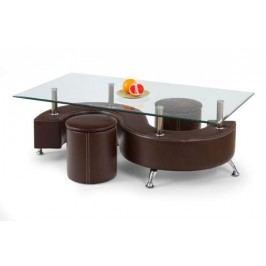 Konferenčný stolík nina 3 tmavě hnědá výpredaj
