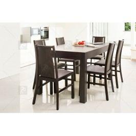 Komplet: stôl wenus 40 + 6 stoličiek mars 121