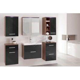 Kúpeľňový nábytok gimi 11 svestka/černý lesk