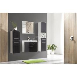 Kúpeľňový nábytok polo čierny lesk