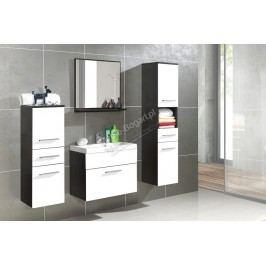 Kúpeľňový nábytok polo venge - bely laminát