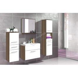 Kúpeľňový nábytok polo slivka + biely laminát