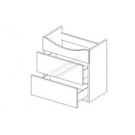 Quatro dum s/2 -  skrinka pod umývadlo