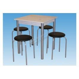 Komplet stôl metis + 4 kuchynské stoličky orbit