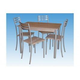 Komplet stôl metis + 4 stoličky beti plus