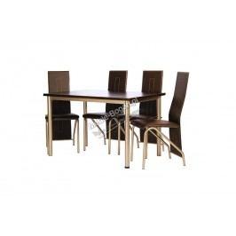 Komplet stôl boston + 4 stoličky orion