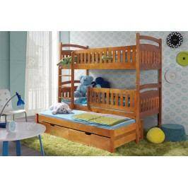 Poschodová posteľ ania 3-osobová 90 x 200 cm
