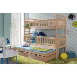 Poschodová posteľ ania 3-osobová 90 x 190 cm