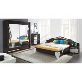 Komplet dome - posteľ dl1-4 + komoda dx3 + dva nočné stolíky
