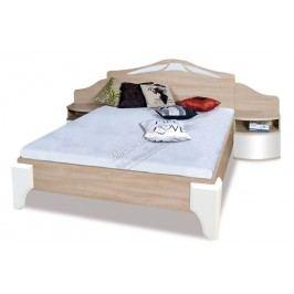 Komplet dome - posteľ dl2-4 + komoda dx4 + dva nočné stolíky