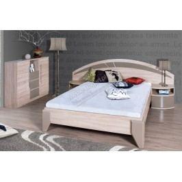 Komplet dome - posteľ dl2-1+ dva nočné stolíky + komoda dx2