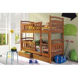 Poschodová posteľ lukášek - rozmer 80 x 180 cm.