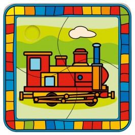 Bino - 88008 Puzzle Lokomotíva,