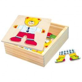Bino - 88047 Puzzle Šatníková skriňa - medvedík