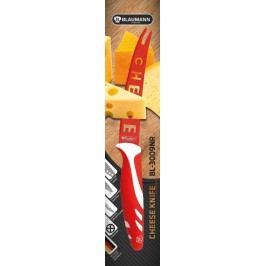 BLAUMANN - Nôž na syr čepeľ 12 cm červený,BL-3009NR