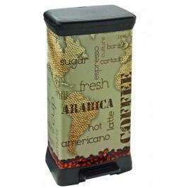 CURVER - Odpadkový kôš Decobin s pedálom 50 l - Black kitchen