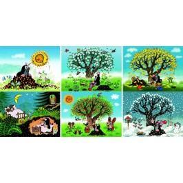 DINOTOYS - Drevené kocky Krtko 12 ks